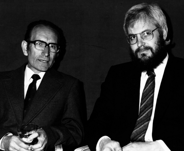 Figure 3: Milstein with Köhler at the time of their receiving the Nobel Prize in 1984